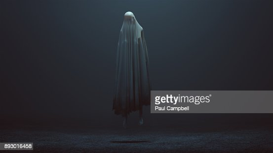 Floating Evil Spirit in a foggy void : Stock Photo