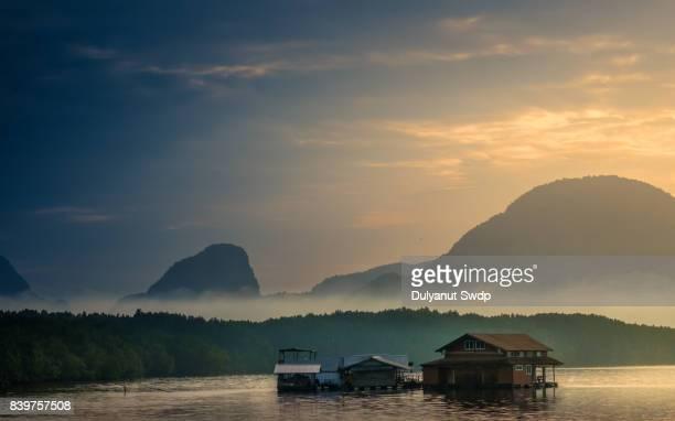 Floating fishing village in Phang-Nga Bay ,Thailand