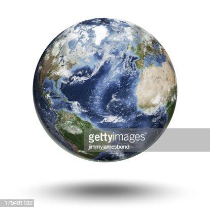 Floating globe focused on the Atlantic Ocean