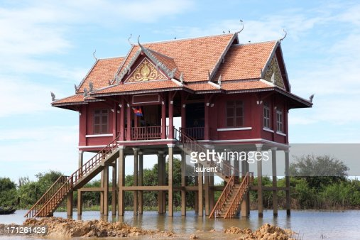 Floating home on Tonle Sap, Cambodia