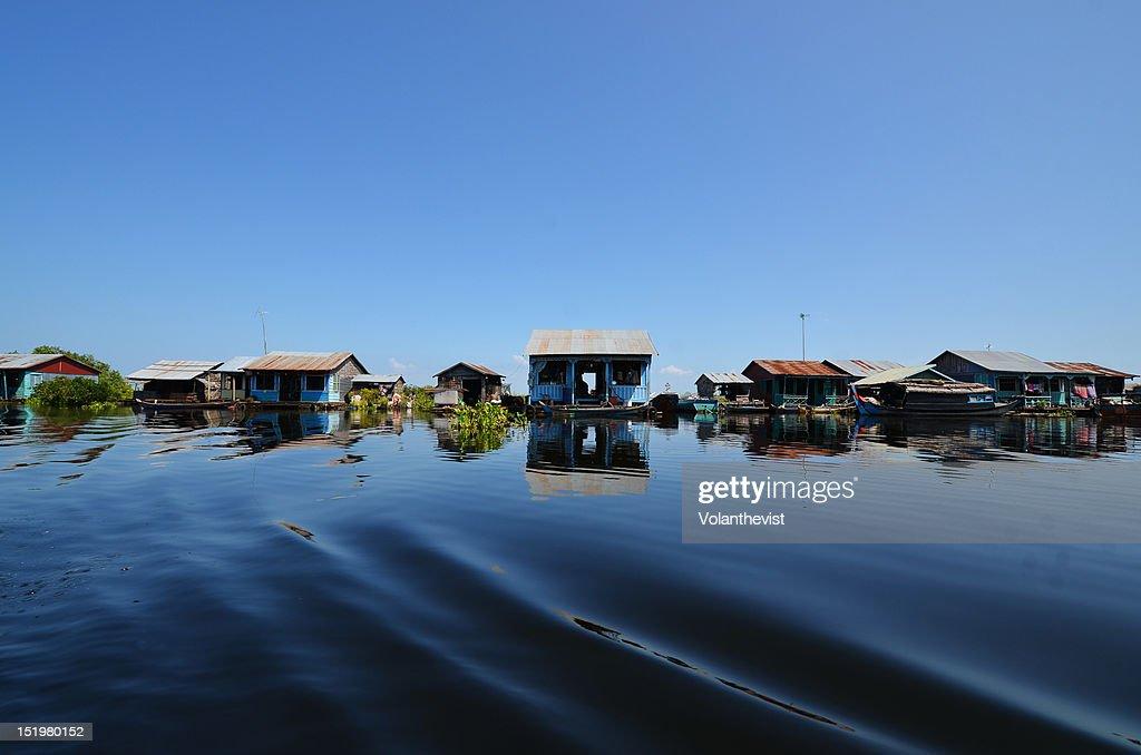 Floating houses : Stock Photo