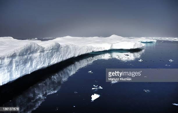 Floating ice on Arctic sea