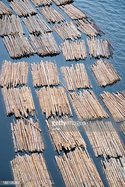 Floating log bundles