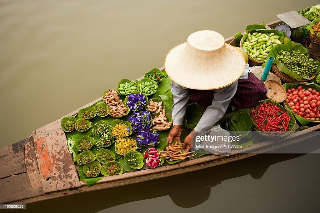 Floating market, Bangkok, Thailand. : Stock Photo
