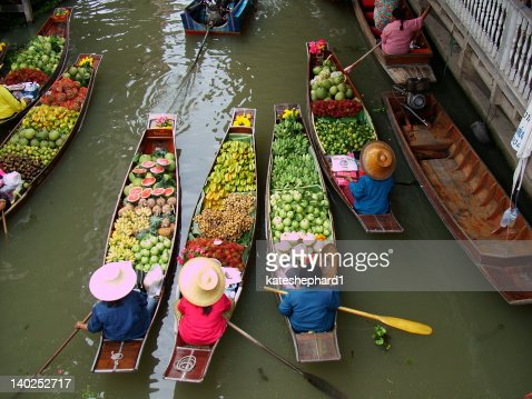 Floating Market in Bangkok 3 : Stock Photo
