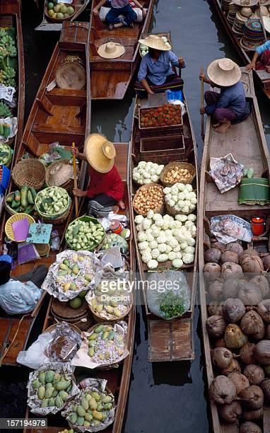 Marché flottant de Thaïlande