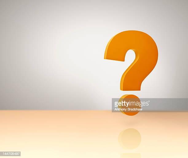 Floating orange question mark