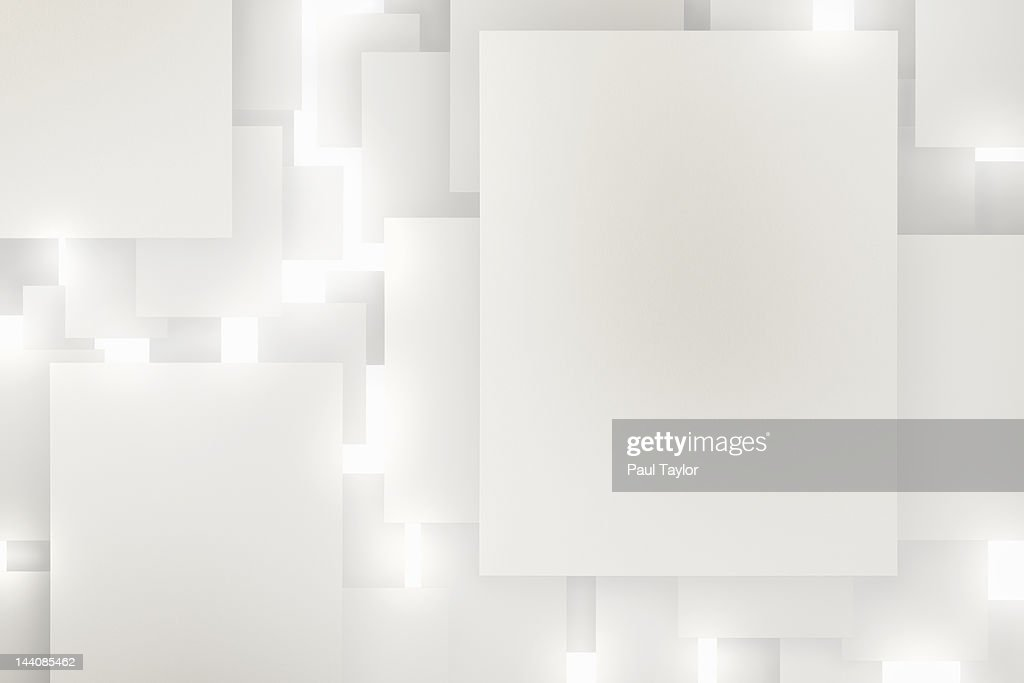 Floating Paper, High Key : Stock Photo