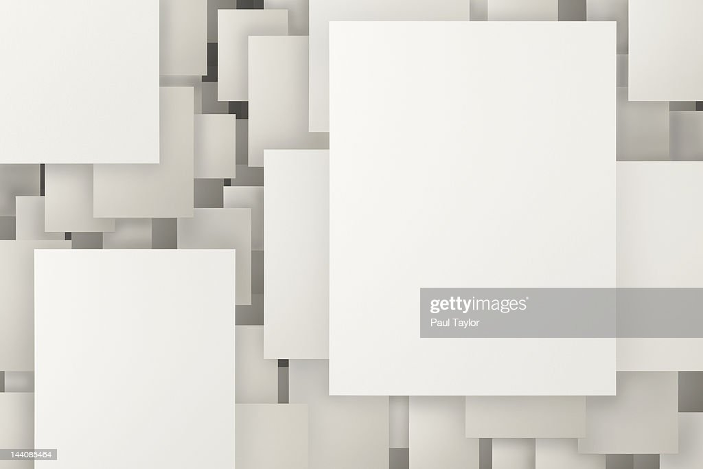 Floating Paper in Grid : Stock Photo