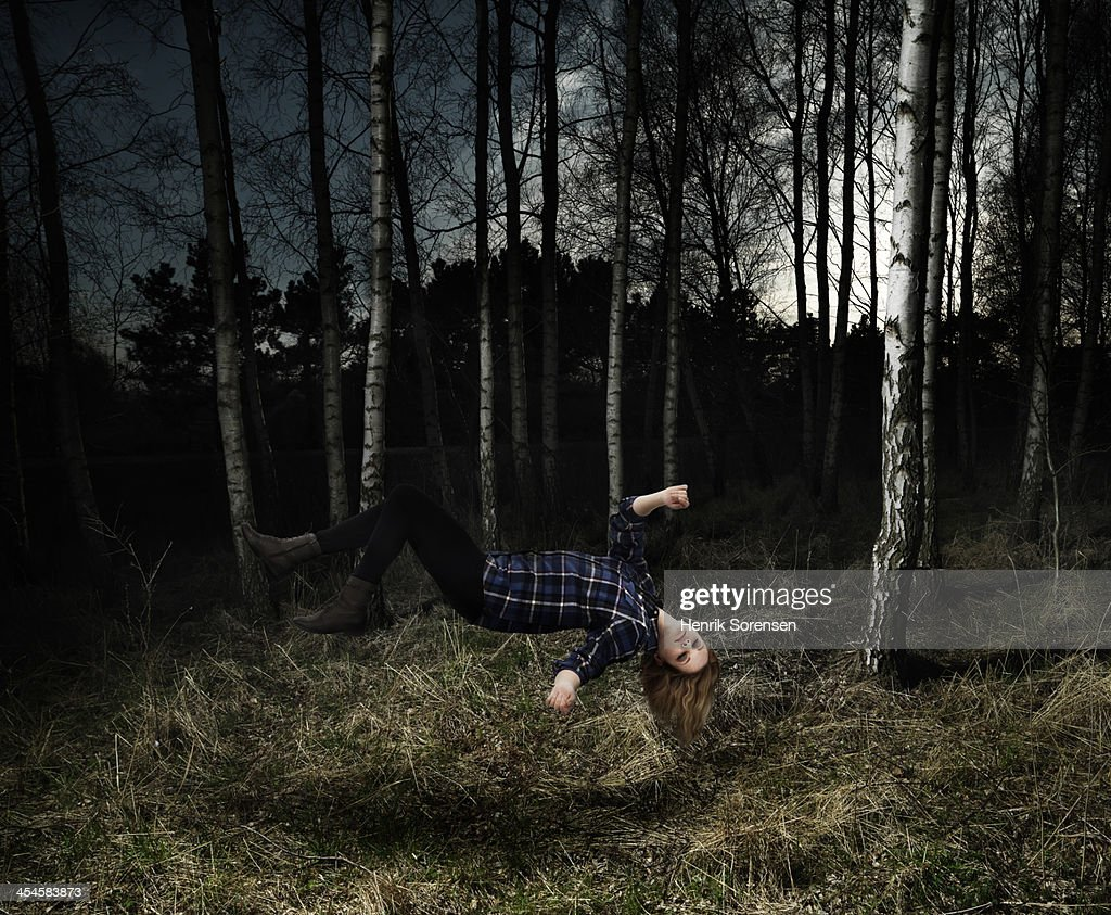 Floating person : Stock Photo