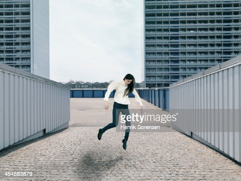 Floating person