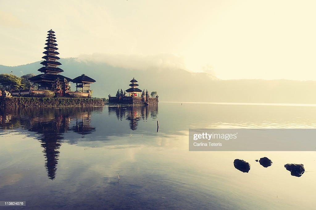 Floating temple, Bali : Stock Photo