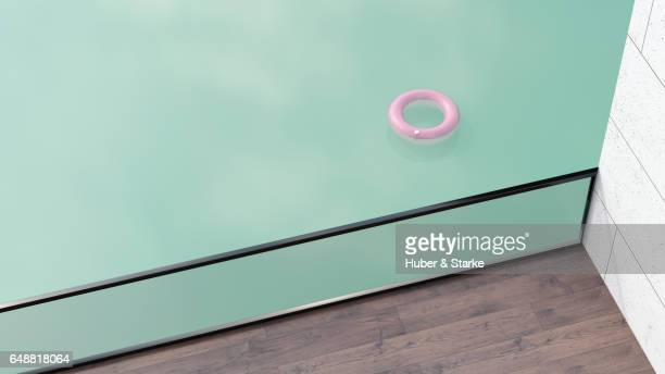 floating tire in water