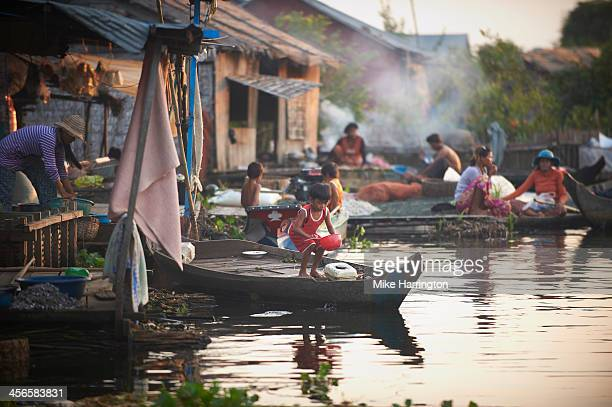 Floating village community in Siem Reap, Cambodia.