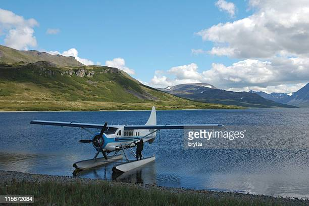 Floatplane on  Battle Lake,Katmai National Park,Alaska,USA