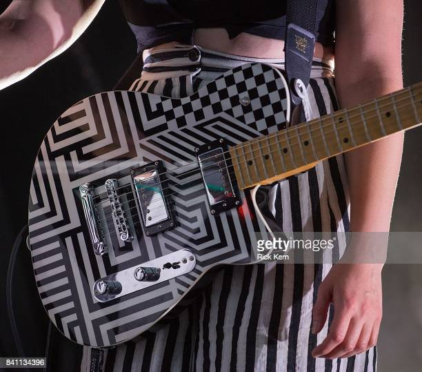 Flock of Dimes guitar detail performs in concert at Stubb's BarBQ on August 30 2017 in Austin Texas