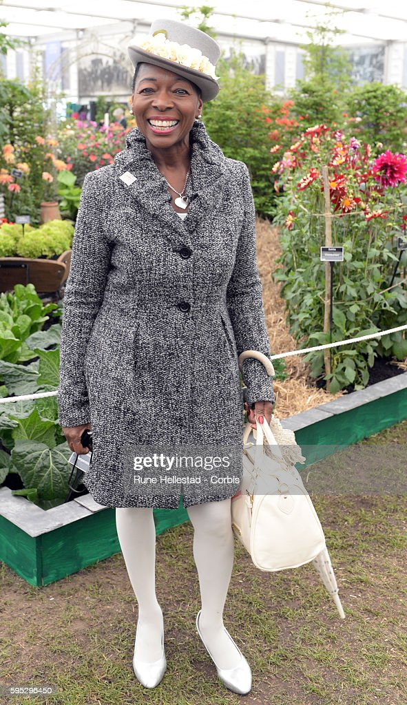 Floella Benjamin attends the Chelsea Flower Show at The Royal Hospital Chelsea