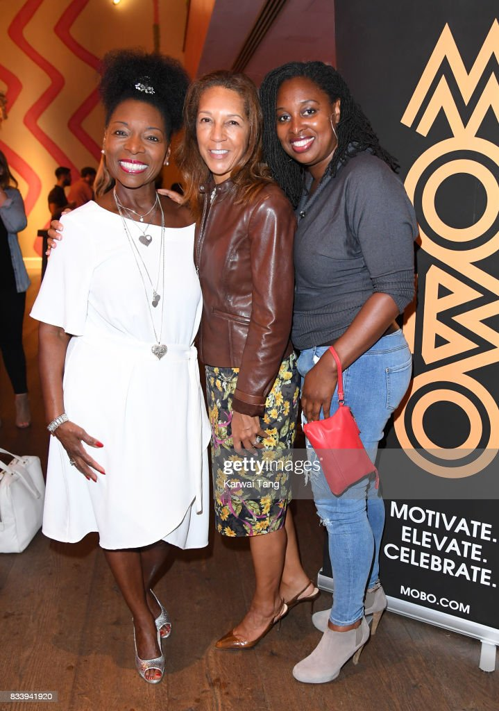 Floella Benjamin, Helen Grant and Dawn Butler attend a screening of 'Detroit' in association with MOBO at Ham Yard Hotel on August 17, 2017 in London, England.
