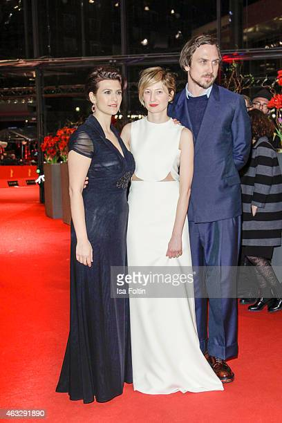 Flonja Kodheli Alba Rohrwacher and Lars Eidinger attend the 'Sworn Virgin' Premiere 65th Berlinale International Film Festival on February 12 2015 in...
