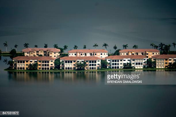 TOPSHOT Flood damage from Hurricane Irma is seen September 14 2017 in Naples Florida / AFP PHOTO / Brendan Smialowski