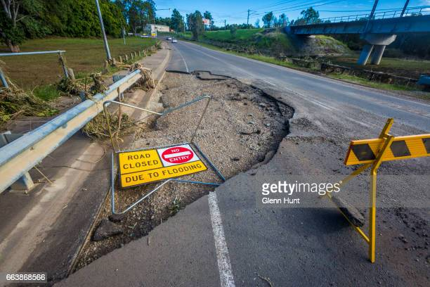 Flood damage on April 3 2017 in Eagleby Australia Heavy rain caused flash flooding across south east Queensland and Northern New South Wales...