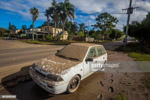 A flood damaged car at Eagleby on April 3 2017 in Eagleby Australia Heavy rain caused flash flooding across south east Queensland and Northern New...