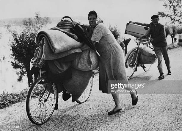 Flood In The Po Delta Refugees Evacuation In Italy On 21Th Of June 1957