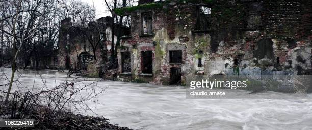 Flood Water. Color Image