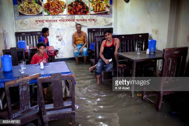 AGRABAD DHAKA CHITTAGONG BANGLADESH A flooded hotel in ChittagongChittagong city is facing unprecedented flooding this year due to rising sea level...