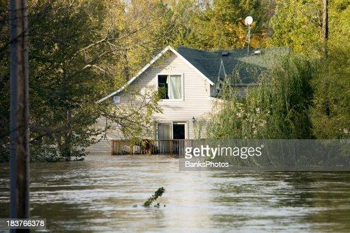 浸水ハウス、次の深刻度、レインストーム