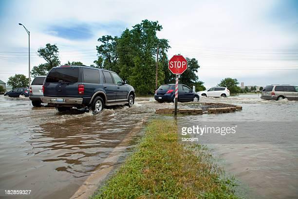 Inondé Intersection de