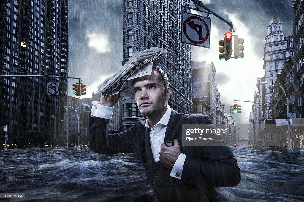 Flooded NYC : Stock Photo