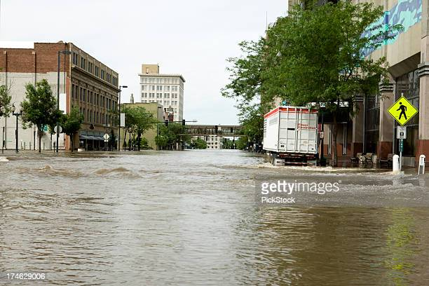 Flooded streets of an inner-city
