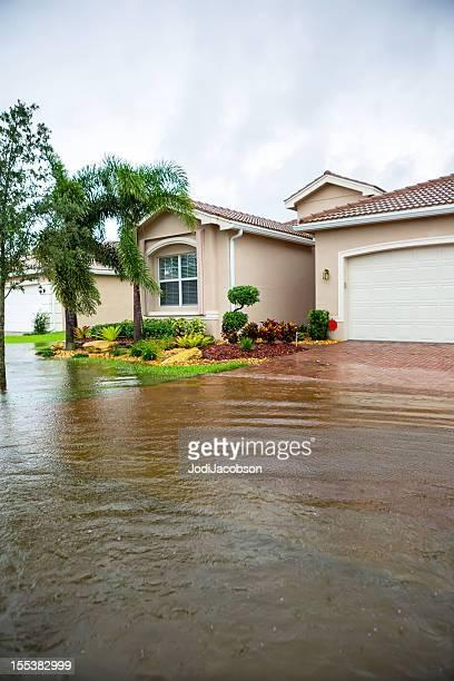 Flut von einem Hurrikan
