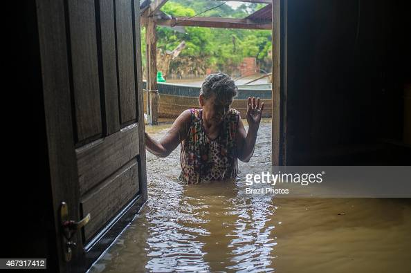 2015 flooding in Brazilian Amazon flooded house in Taquari district Rio Branco city Acre State Gilca Goncalvez Cunha finds her house flooded with the...