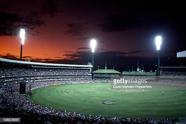A floodlit view of the Sydney Cricket Ground during the World Cup match between Australia and England in Sydney 5th March 1992 England won by 8...
