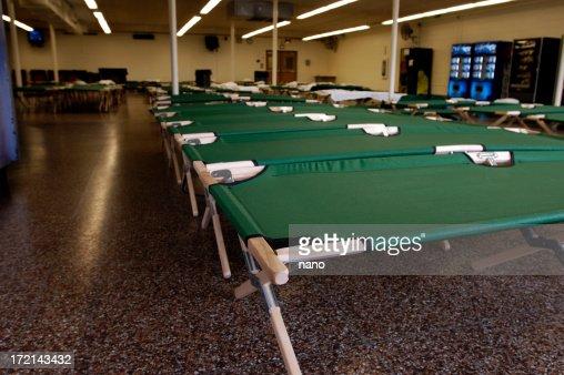 洪水-NJ シェルター簡易ベッド