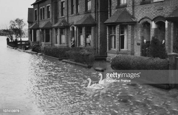 Floods At Nottingham On March 20Th 1947