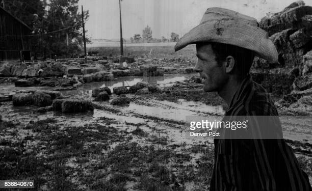 Floods * Colorado Loring Goodan a lease farmer looks over remains of floodwater from deer creek The water smashed at his barn and five tons of...