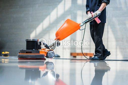 máquina de cuidado de piso : Foto de stock