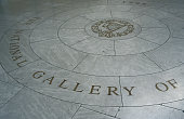 Floor decoration in National Gallery.