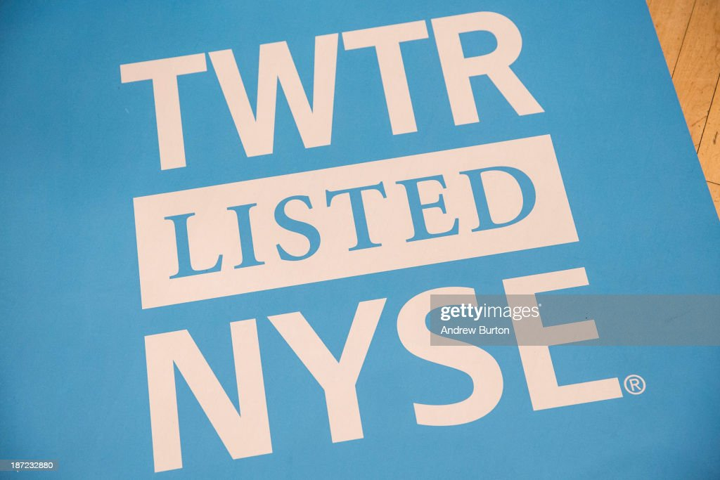 A floor mat bearing the logo of Twitter and the symbol on which Twitter's stock will traded (TWTR) is seen on the floor of the New York Stock Exchange (NYSE) on November 7, 2013 in New York City. Twitter goes public on the NYSE today, it is expected to open at $26 per share, making the company worth an estimated $18 billion.