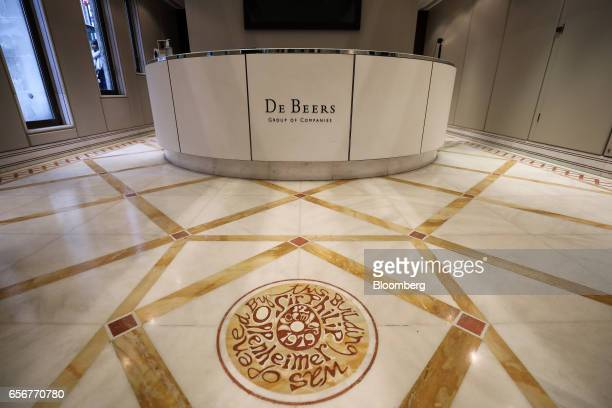 A floor plaque in the reception area commemorates the year that the De Beers SA company moved into its headquarters on Charterhouse Street in London...
