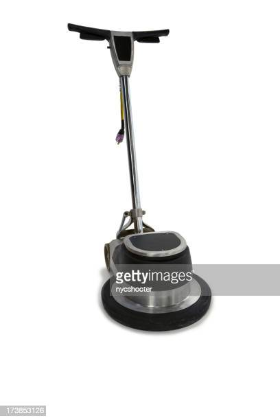 Floor polisher isolated with path