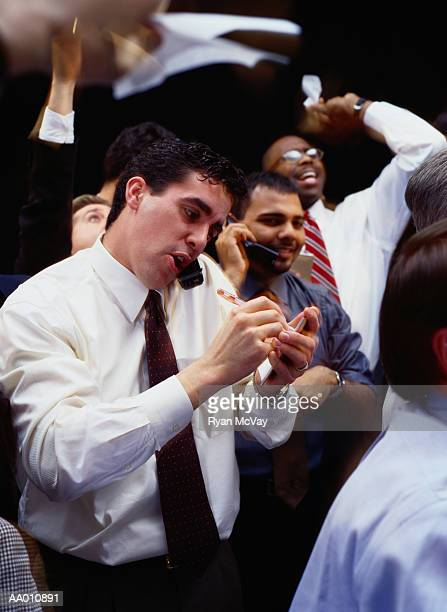 Floor Traders at the Stock Exchange