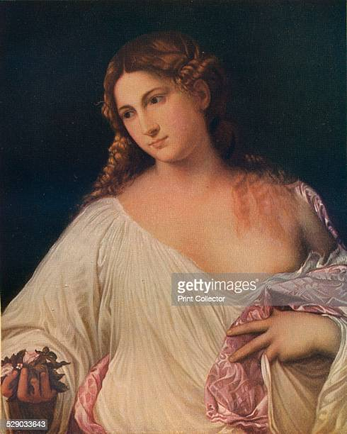 Flora c1515 After an oil painting by Titian Original housed in the Uffizi Gallery Florence From A History of Painting Vol 2 by Haldane MacFall [TC...