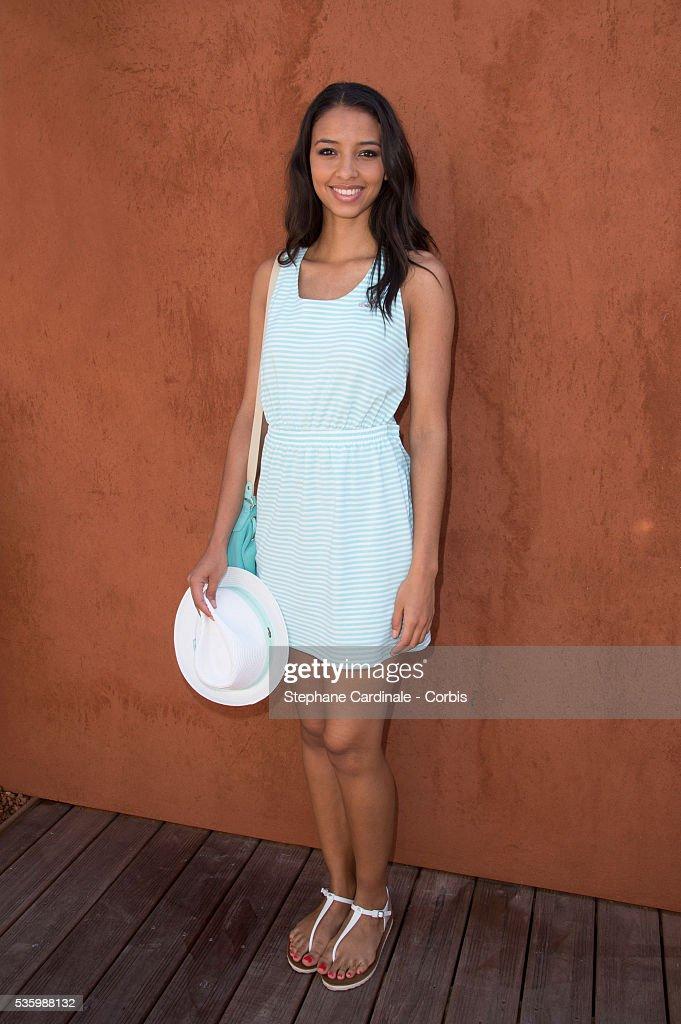 Flora Coquerel attends the Roland Garros French Tennis Open 2014.