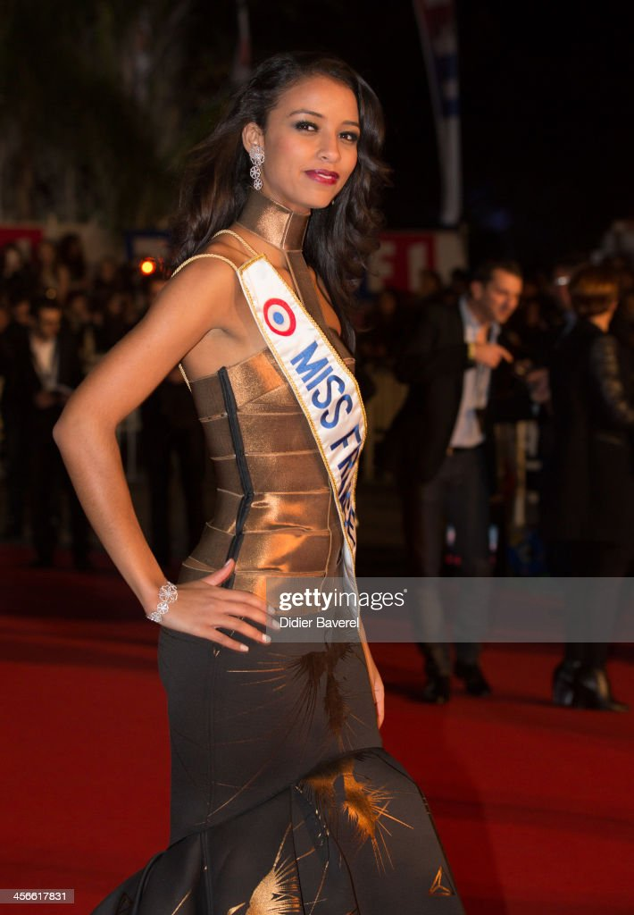 Flora Coquerel, Miss France, attends the 15th NRJ Music Awards at Palais des Festivals on December 14, 2013 in Cannes, France.