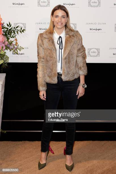 Flora Gonzalez attends the Juanjo Oliva's new collection parade at El Corte Ingles store on March 22 2017 in Madrid Spain