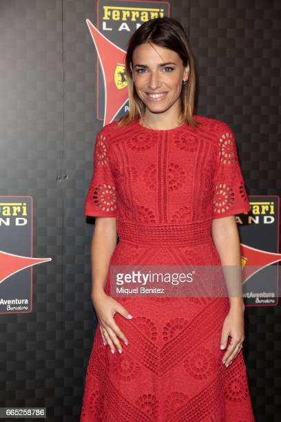 Flora Gonzalez attends the new Ferrari Land at Port Aventura World on April 6 2017 in Tarragona Spain